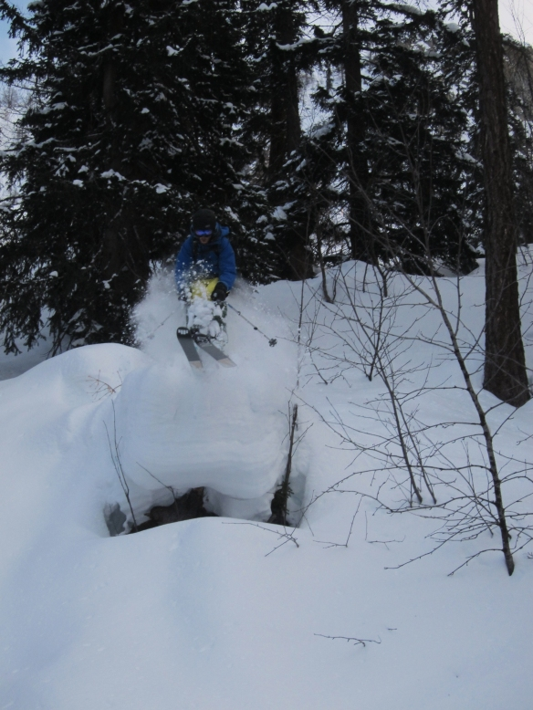 Ally Fulton hucking in the trees