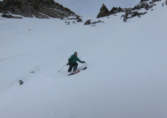 Dave starting to ski. we thought it was going to be good but we were wrong...