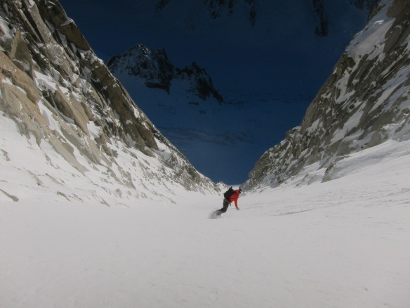 The lower couloir is super nice....