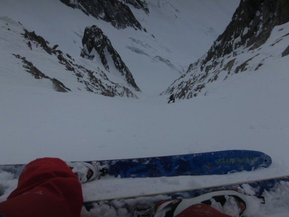 Lower down the couloir.