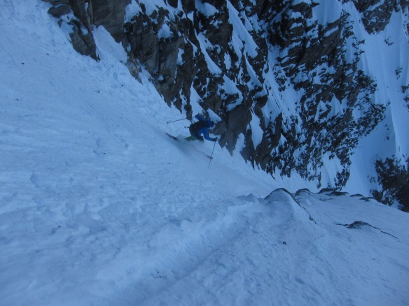 Steep and firm. Not good for the first line of the year!
