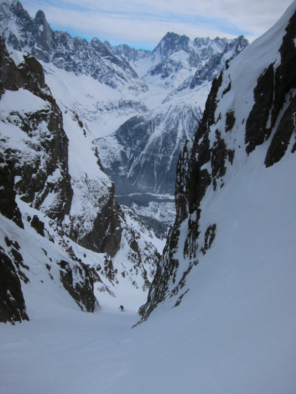 Lower exit Couloir