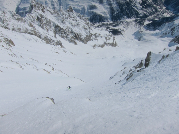 Ross skiing the south face
