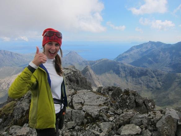 Emma on the Last peak, Sgurr Nan Gillean.