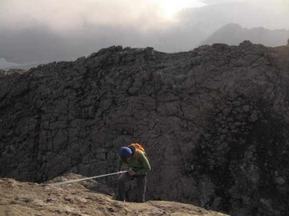 Abseiling off the In Pin