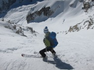 Ally Fulton checking out the Couloir.