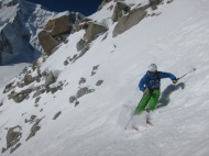 Andy Dines in the upper Couloir