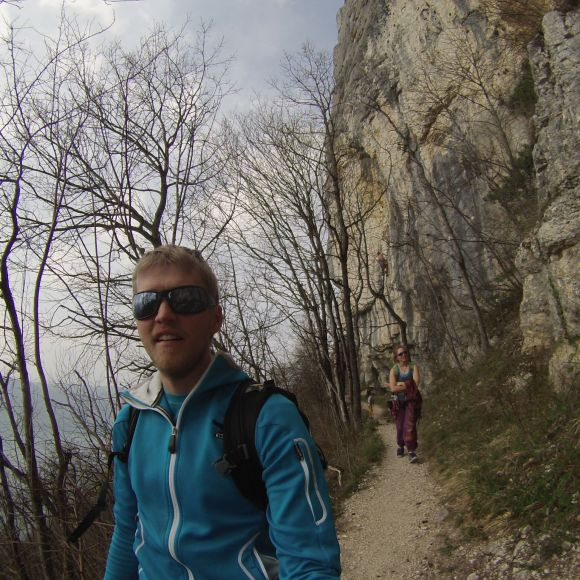 At an Awesome crag called Chambotte Near annecy before the snow came.