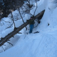 No cham day would be complete without some tree skiing!