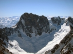 The Grandes Jorrasses Seen from the Summit of the Aiguille verte