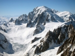Mont Blanc and the Vallee Blanche