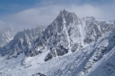 West Face of the Midi. A skiers paradise.