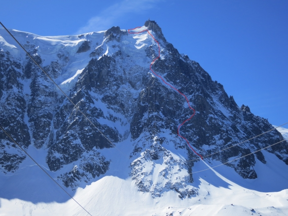 The Mallory on the North face of the Midi