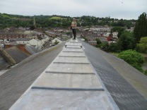 On my Mums Church roof