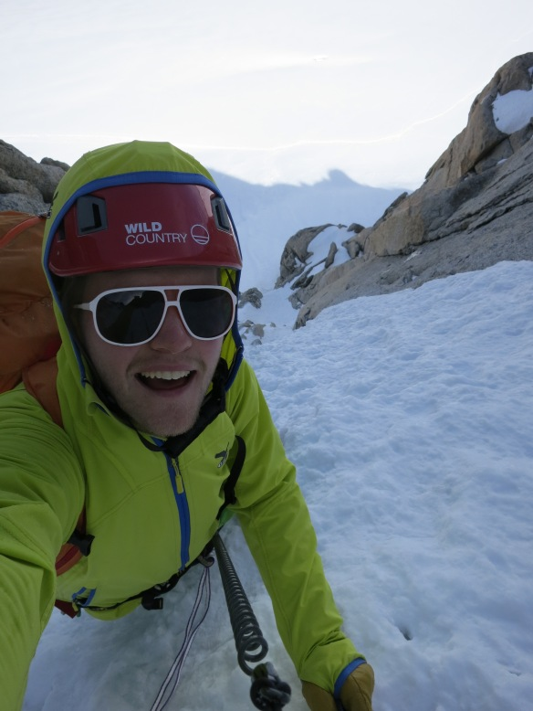 Shameless Selfie soloing the Chere Couloir one afternoon.