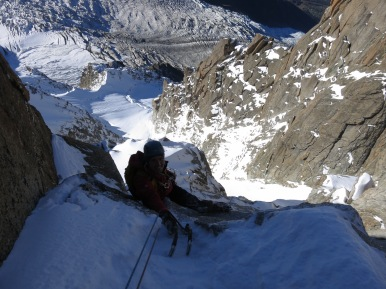 Ally topping out on the 3rd pitch.