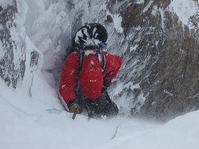 Jack climbing in Glen Coe