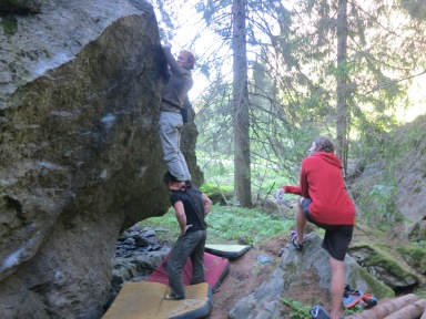 Team work is essential with bouldering sometimes!