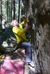 Having some fun on some boulders up near the swiss boarder.