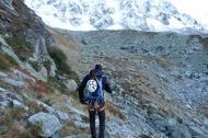 Phillip Walking into the Midi North face