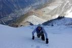 Phillip on the upper slopes.