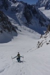 Josh On the Climb to the Aiguille Tacul
