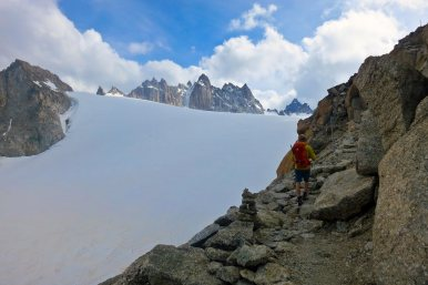 Walking to the Trient hut
